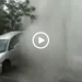 Sewer Geyser Launches Parked Car In The Air