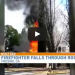 WATCH: As Fresno Firefighter Falls Through Roof Of Burning Home!