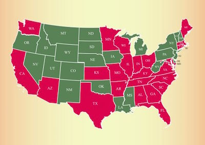 Red States Indicate Medicine Resistant 'Mutant Lice'