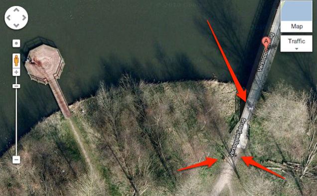 google maps photo of murder