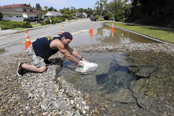 Water mains broken by earthquake