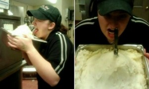 KFC-employee-licking-mashed-potatoes