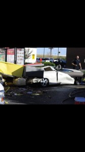 mcdonald's sign falls on car