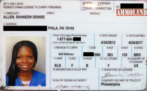 woman with license to carry firearms