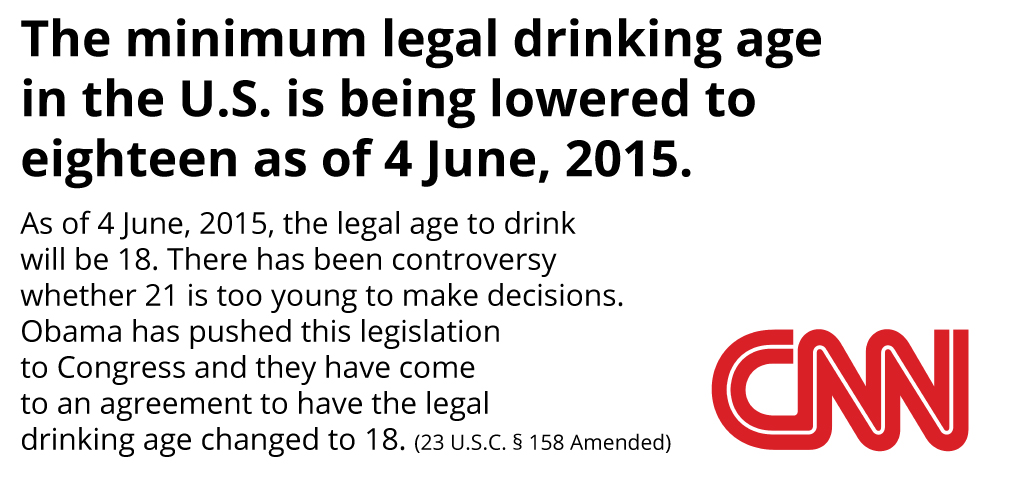 "obama signs law to lower legal drinking age to effective  ""in general the younger people start to drink the safer they are """