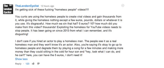 upset over homeless man on social media
