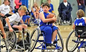 kid in wheelchair crying while playing basketball :(