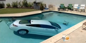 85-year-old man crashes car in pool