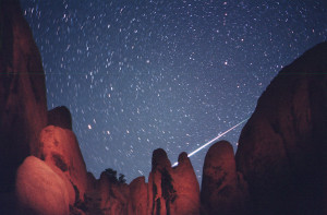 NASA Photo of meteor shower