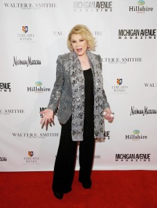joan rivers on red carpet