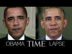 obama time lapse photo