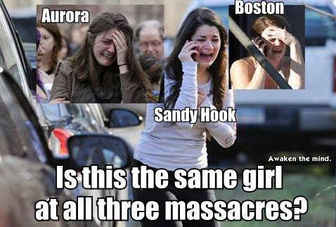 same woman at aurora, boston and sandy hook