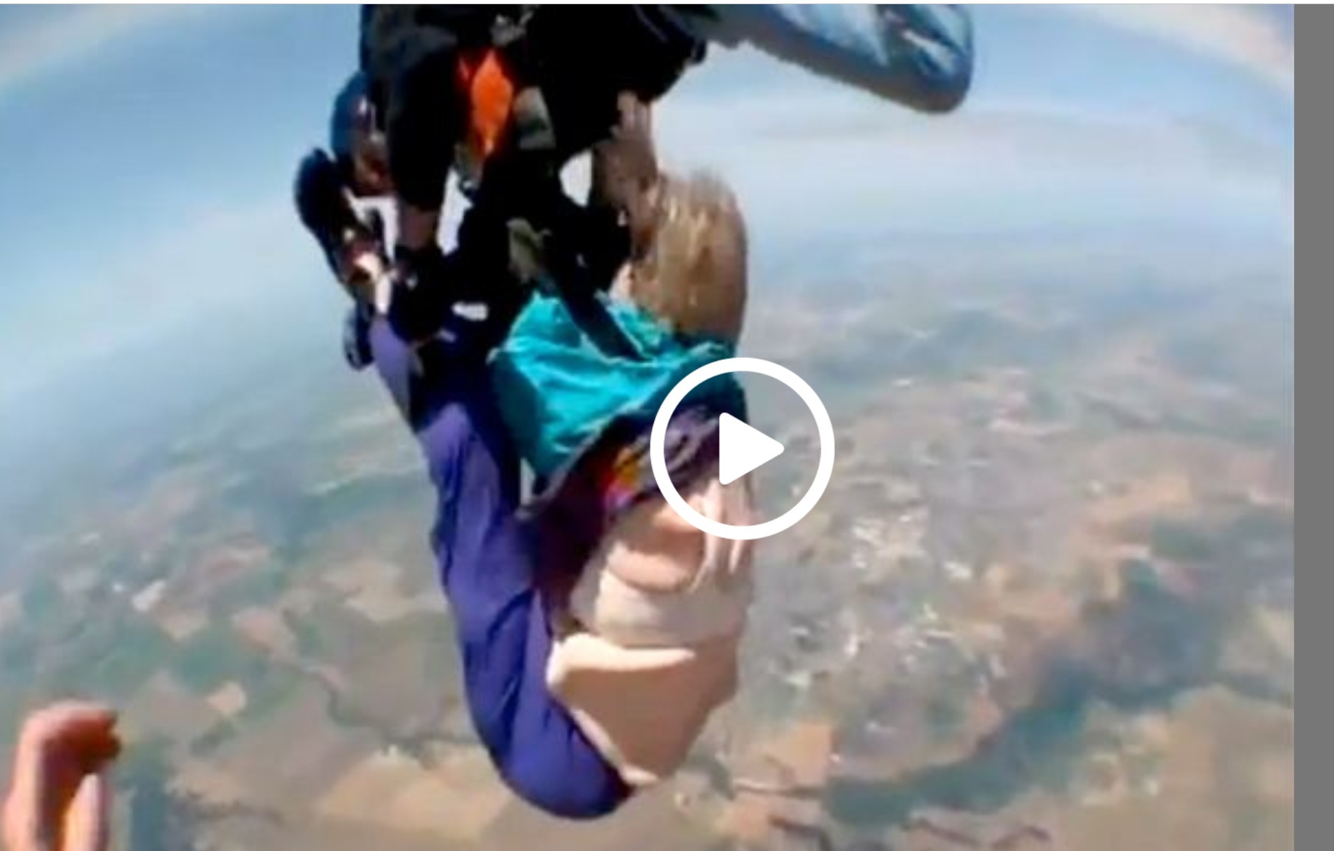 80 Year Old Woman's Sky Dive Goes Terribly Wrong